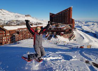 esquiar em valle nevado
